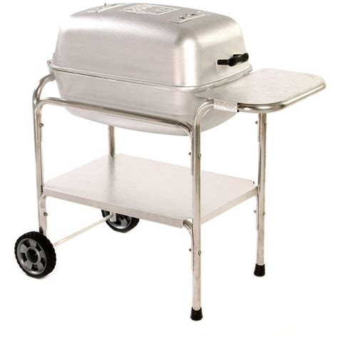 portable kitchen grill pk cast aluminum charcoal grill smoker bbq guys