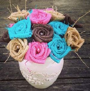 Burlap Flowers (Page 1 of 1) Wedding Products from