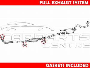 For Mitsubishi L200 2 5 Tdi K74 Front Pipe Centre Cat Rear