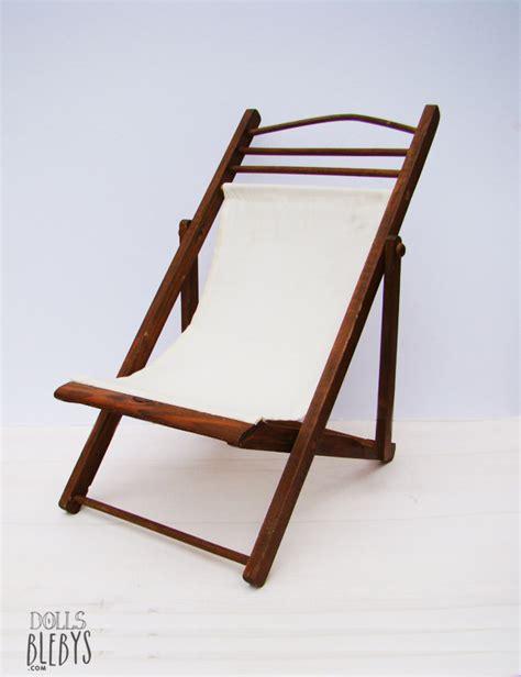 chaise longue en bois et toile transat en bois modèle ancien blebys