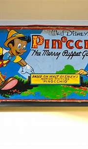 Unknown - Pinocchio Original Oil Painting Vintage Board ...