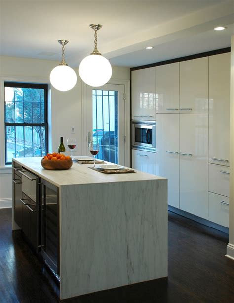 brooklyn townhouse modern kitchen  york  muse architecture