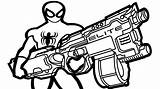 Coloring Gun Nerf Pages Guns Spiderman Colouring Drawing Sheets Military Printable Fun Boys Themed Getdrawings Getcolorings Modest Fish Wiht Clipartmag sketch template