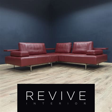 Ecksofa Modern Design by Rolf Designer Leder Ecksofa Rot Sofa