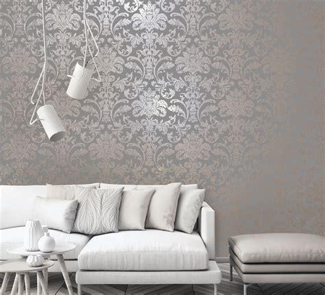 holden glistening damask greyrose gold  wallpaper