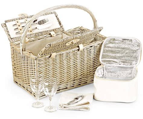 Fitted Picnic Basket, Two-bottle Folding Hamper (18