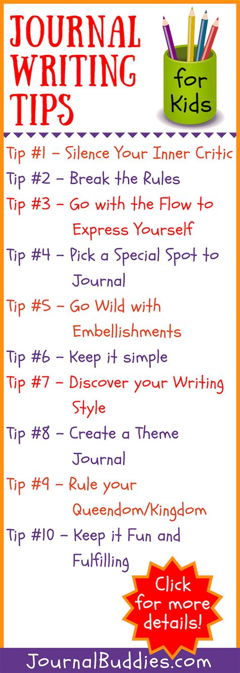 Writing Tips by 10 Journal Writing Tips For Journalbuddies
