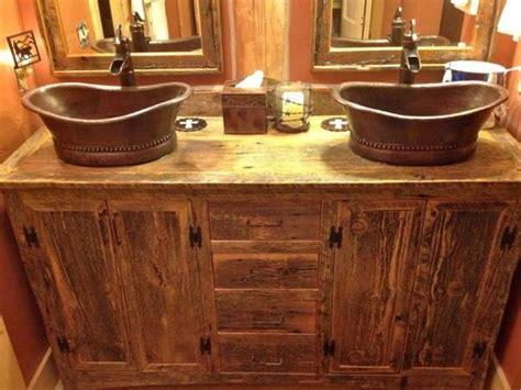 + Ideas About Rustic Bathroom Vanities On Pinterest