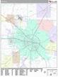 Dothan Alabama Wall Map (Premium Style) by MarketMAPS