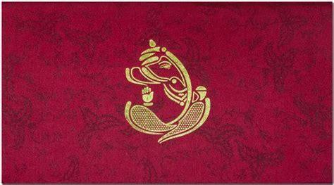 beautiful gold ganesha image   fabric base card
