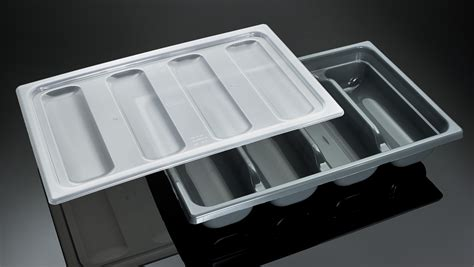 stainless steel silverware caddy lid stackable cutlery tray gn 1 1 cutlery holder cpp11pp
