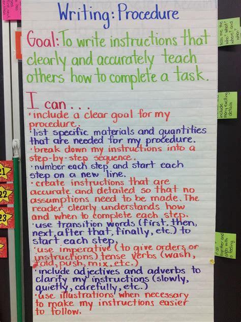 success criteria  procedural writing
