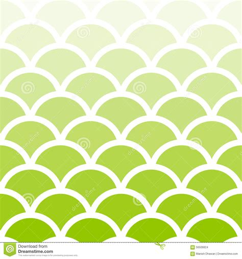 traditional light green seigaiha japanese seamless wave