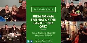Autumn Pub Quiz – 14 October | Birmingham Friends of the Earth
