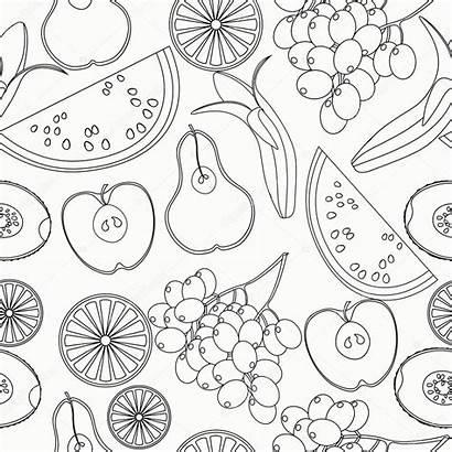 Fruit Kleurplaat Kiwi Coloring Pattern Orange Watermeloen