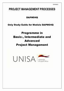 Pdf  Project Management Processes Dapm04q Only Study
