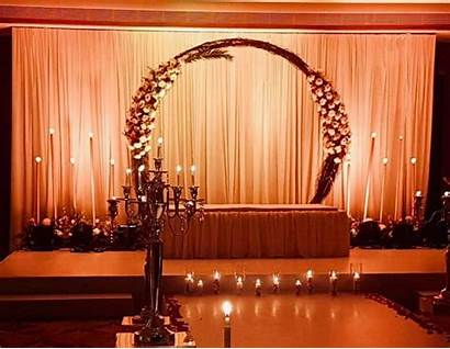 Stage Simple Interior Draping Blinds Curtains Reception