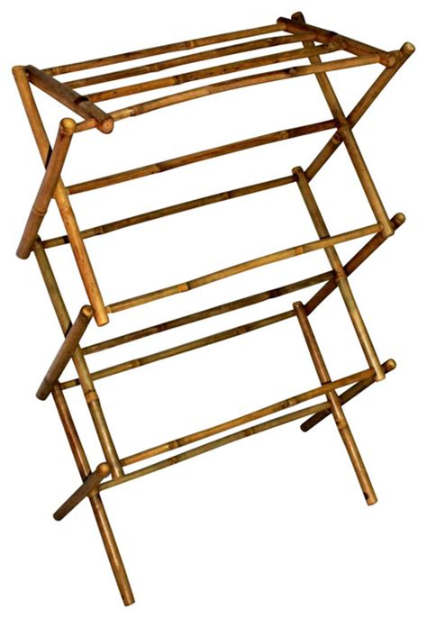 Decorative Clothes Rack Australia bamboo multi tiers laundry drying rack 42 quot h x 29 quot w x 14 quot d