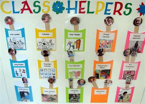 preschool positions 25 and free classroom chart ideas 866