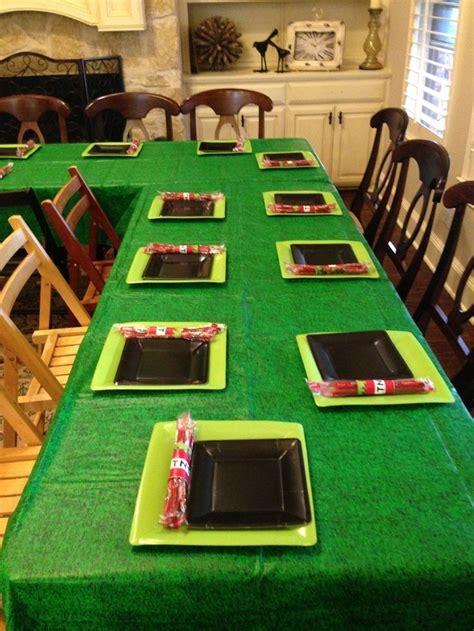 2014 Halloween Minecraft Themed Table Setting  Tnt, Grass