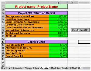financial excel templates npv irr and more With npv excel template