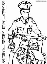 Police Coloring Officer Pages Officers Drawing Print Policeofficer Getdrawings sketch template