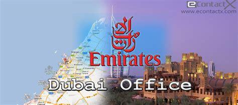 emirates bureau emirates airlines dubai office contact phone number