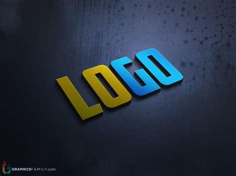Free letter size poster mockup. Modern 3D Logo .PSD Mock-up