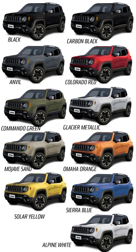 jeep renegade interior colors 2015 jeep renegade will come in a big selection of great
