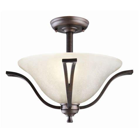 bronze flush ceiling light design house ironwood 2 light brushed bronze ceiling semi