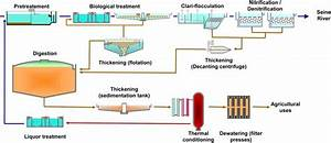 Schematic Diagram Of The Wastewater And Sludge Process