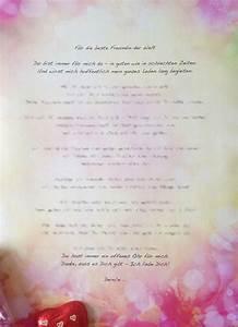 Geschenk 18 Geburtstag Beste Freundin : brief der freundschaft beste r freundin freund geschenk geburtstag ebay ~ Frokenaadalensverden.com Haus und Dekorationen