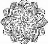 Mandala Coloring Pages Printable Flower Sheets Getdrawings Adult Bargain Colorings Colouring Mandela Getcolorings Books sketch template