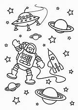 Space Coloring Astronaut Outer Mission Pages sketch template