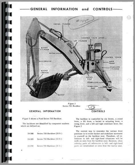 ford  backhoe attachment operators manual