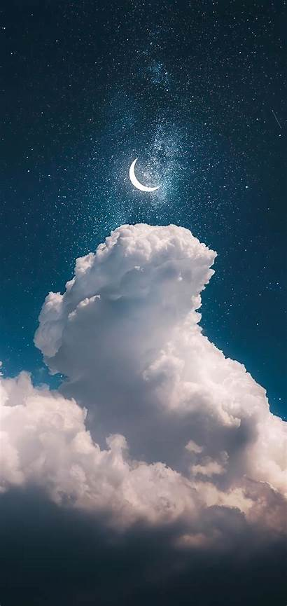 Sky Iphone Night Wallpapers Moon Nocturno Cielo
