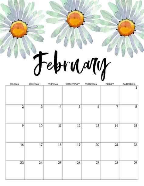 printable calendar floral print calendar