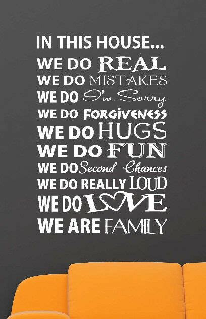 house vinyl lettering wall art words quotes family decor decal love ebay