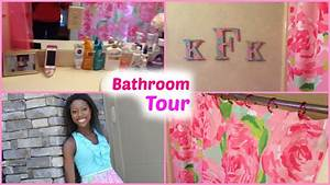Bathroom tour ft lilly pulitzer youtube for Lilly pulitzer bathroom