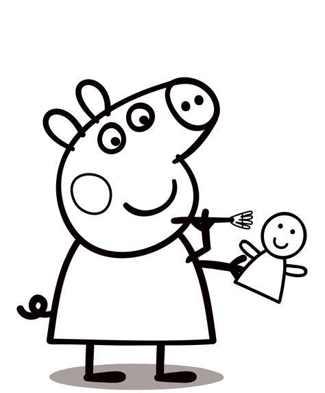 Coloring Peppa Pig by Peppa Pig Coloring Pages To Print For Free And Color