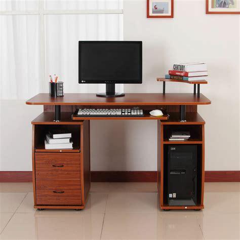 computer desks for computer pc desk table work station w printer shelf home