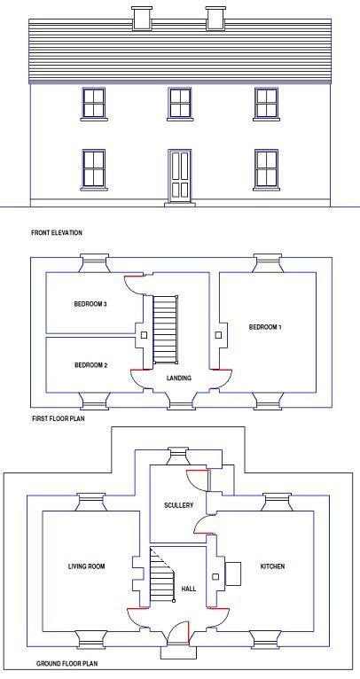 traditional irish farmhouse design  floor plan     stone cottage design plans