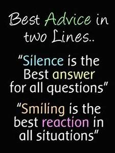 Silence is the ... Smile N Silence Quotes
