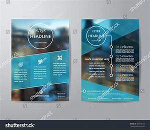 Business Brochure Flyer Design Layout Template Stock