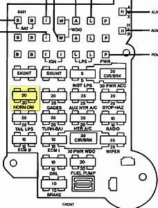 Im Trying To Locate The Fuse For Interior Lights On A 92 Chevy G20 Conversion Van And Is Not