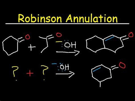 Organic Chemistry Retrosynthesis Practice Problems by Robinson Annulation Retrosynthesis Reaction Mechanism