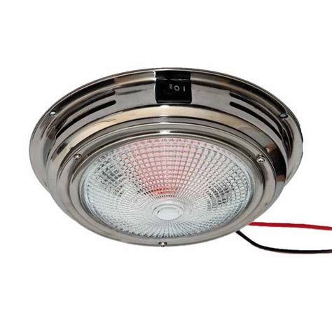 Boat Lights West Marine by West Marine 7 Quot Dome Light Stainless Clear Bulbs