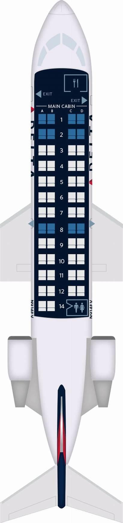 Crj 200 Bombardier Aircraft Delta Seat Map