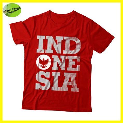 jual kaos indonesia baju distro lambang gambar timnas garuda indonesia one nation di