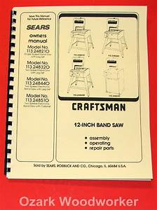 Craftsman 12 U0026quot  Band Saws 113 24810 113 248320 113 248440